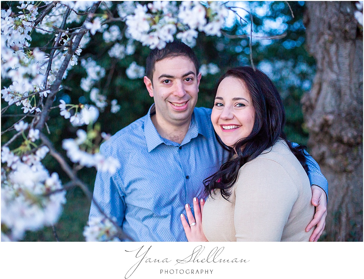 Cherry Blossom Engagement Session by New Jersey Wedding Photographers