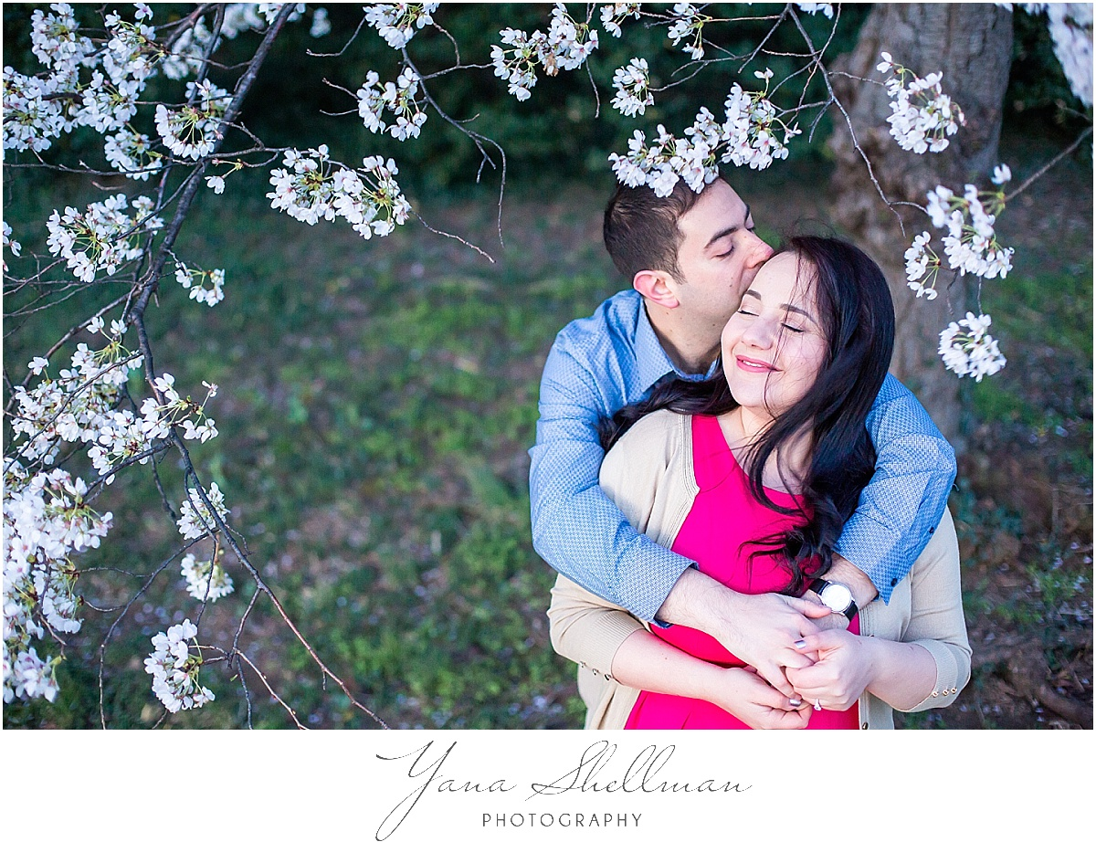 Cherry Blossoms Engagement Session by New Jersey Wedding Photographers
