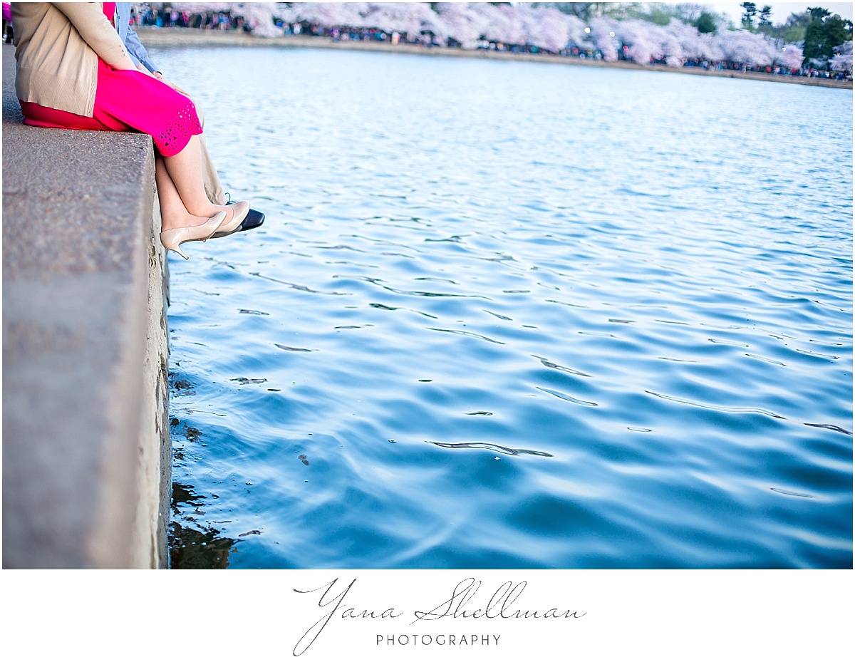 Cherry Blossom Engagement Session by South Jersey Wedding Photographer
