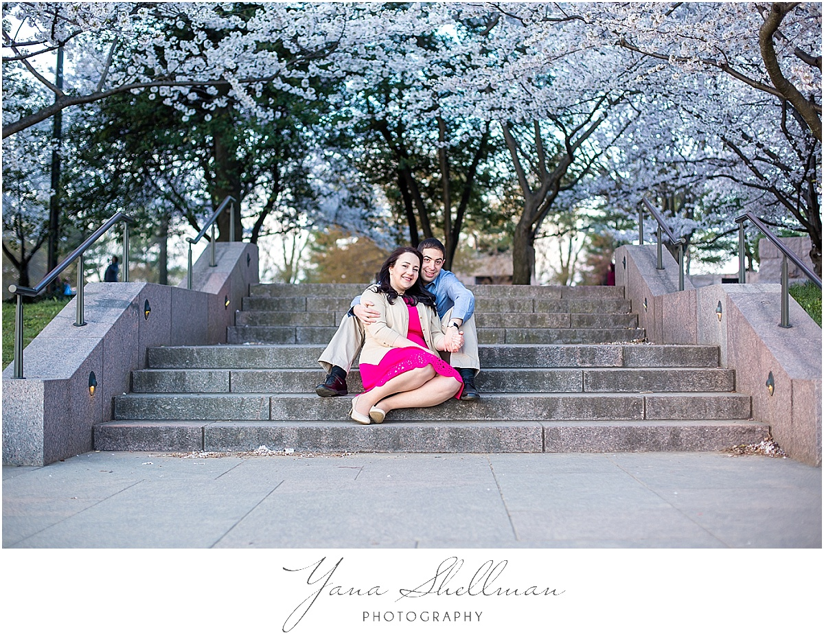Cherry Blossoms Engagement Session by Philadelphia Wedding Photographers