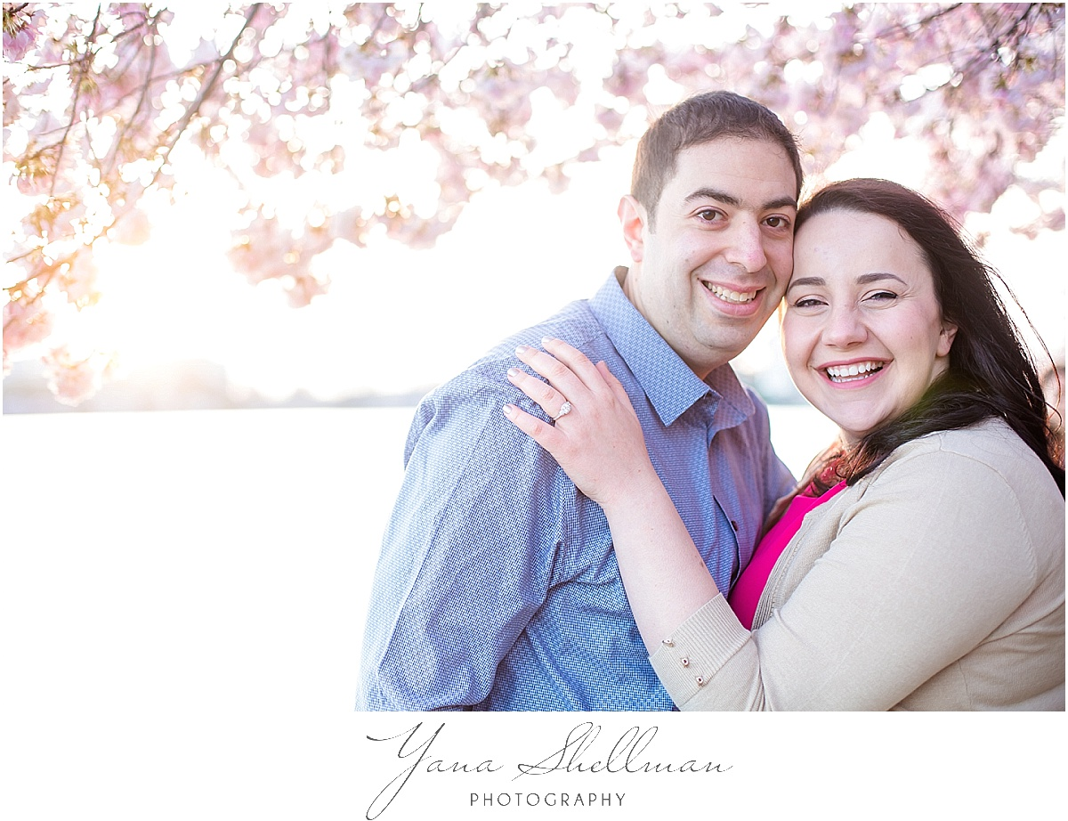Cherry Blossoms Engagement Session by Philly Wedding Photographer