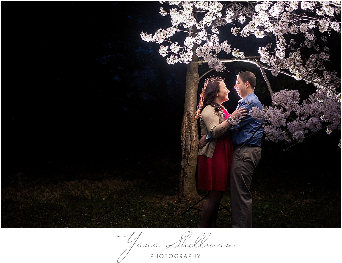 Cherry Blossom Engagement Session by NJ Wedding Photographer