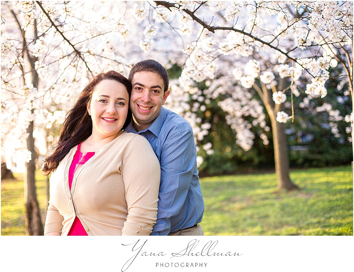Cherry Blossoms Engagement Session by Cherry Hill Wedding Photographer