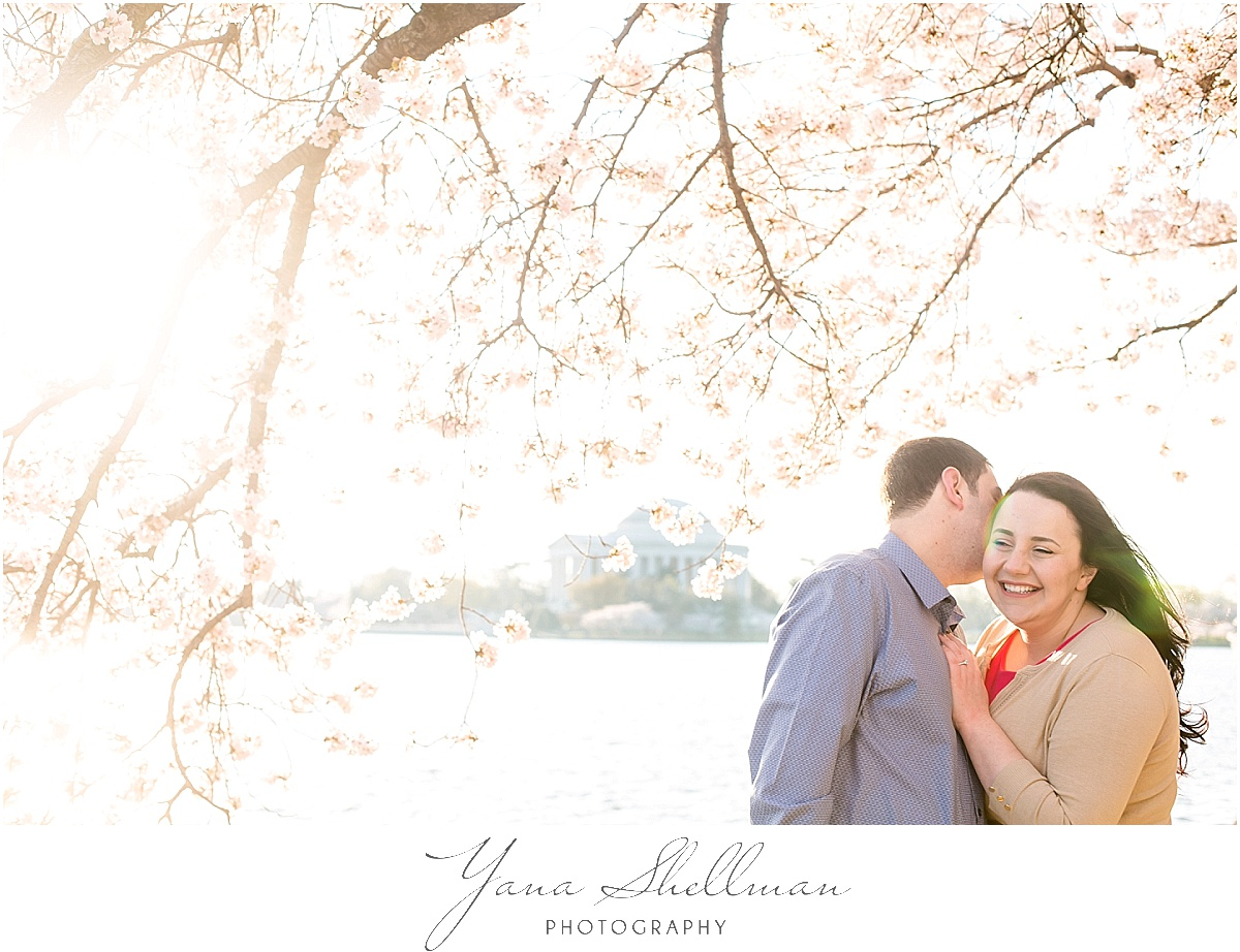 Cherry Blossom Engagement Session by Cape May Wedding Photographers