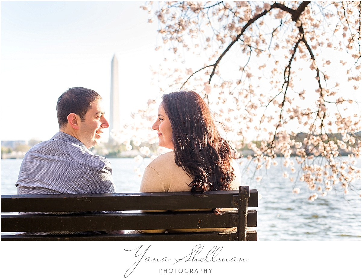 Cherry Blossoms Engagement Session by Cape May Wedding Photographers