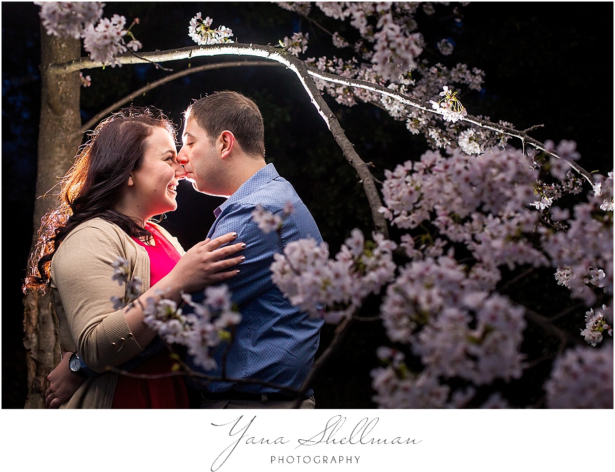 Cherry Blossoms Engagement Session by NJ Wedding Photographer