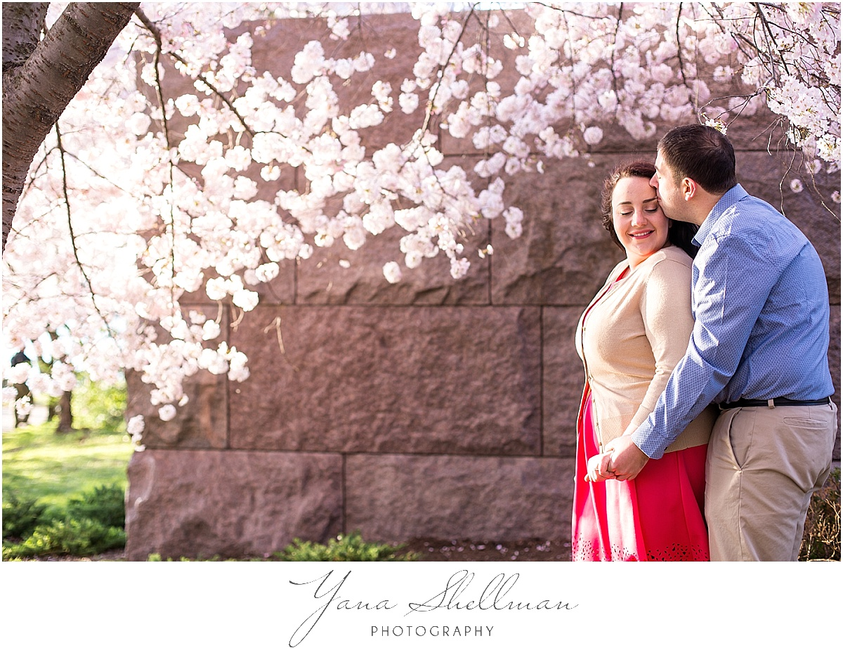 Cherry Blossoms Engagement Session by Avalon Wedding Photographer