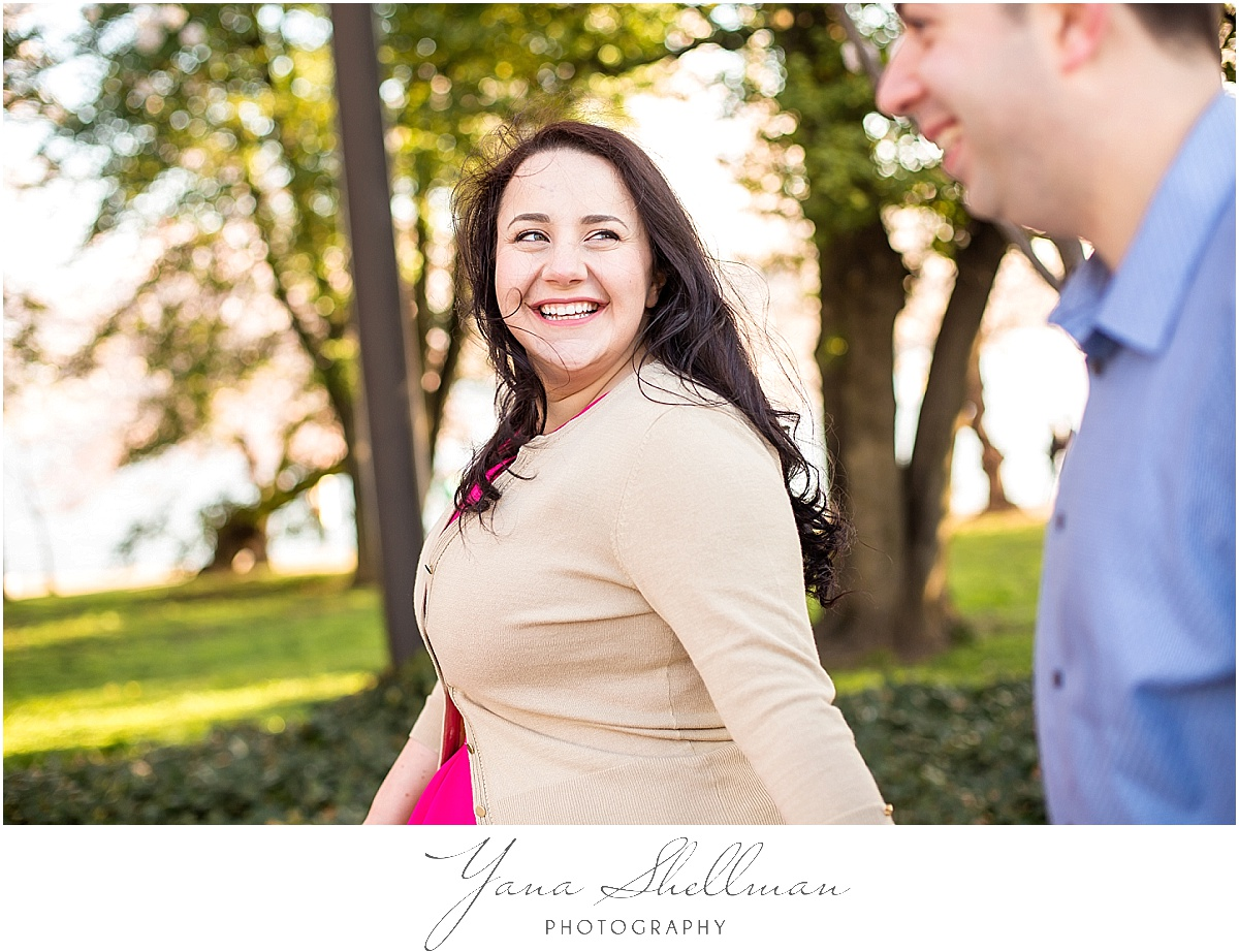 Cherry Blossoms Engagement Session by Point Pleasant Wedding Photographers