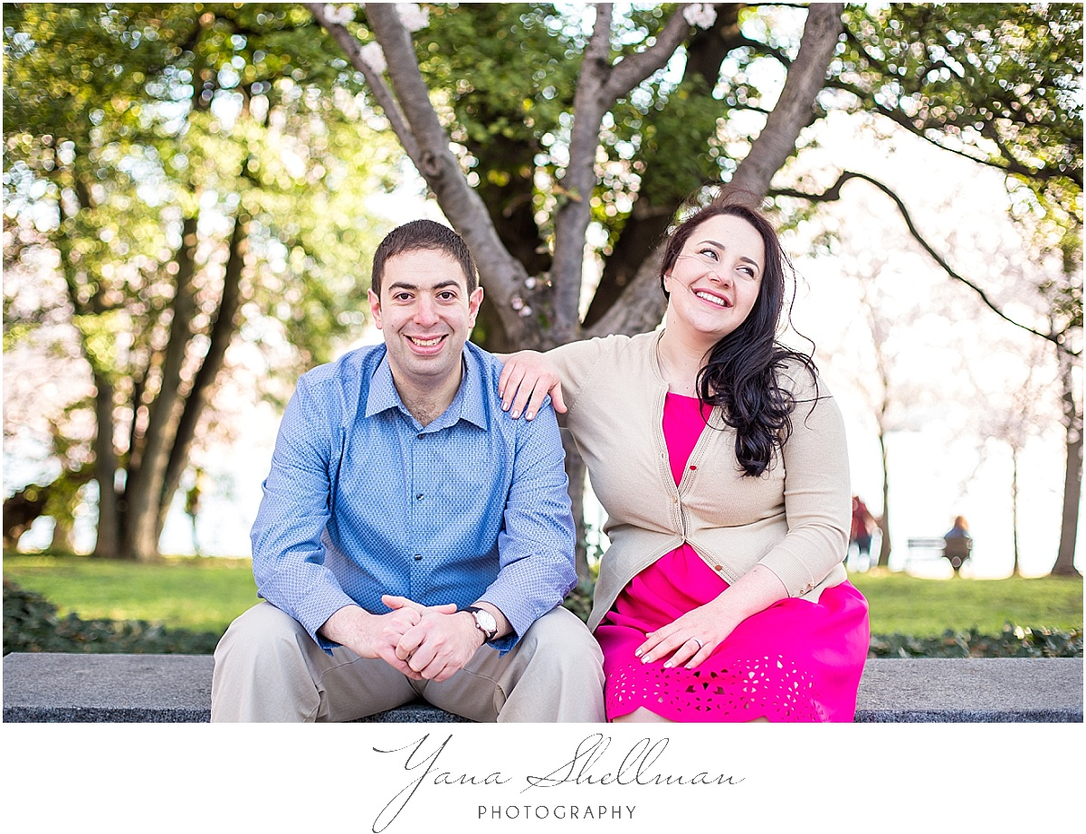 Cherry Blossom Engagement Session by Vineland Wedding Photographer