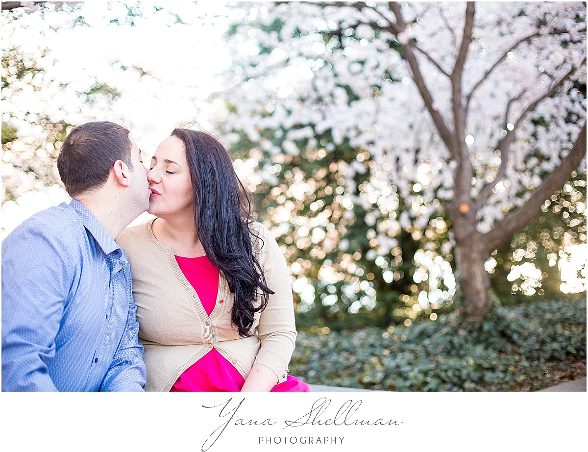 Cherry Blossoms Engagement Session by Vineland Wedding Photographer
