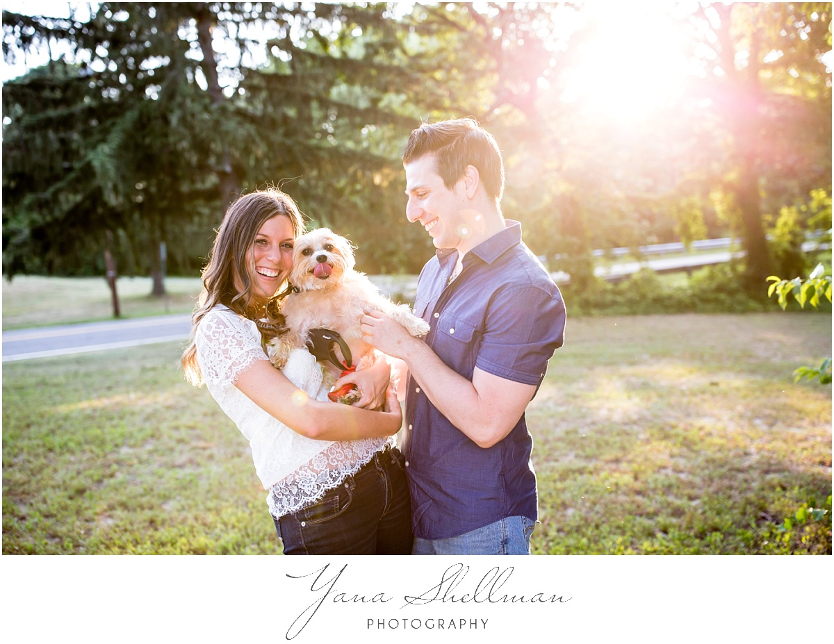 54 - Lakeside at Medford Wedding by Cherry Hill Wedding Photographer- Lindsay+Rob Cherry Hill Engagement session with a dog