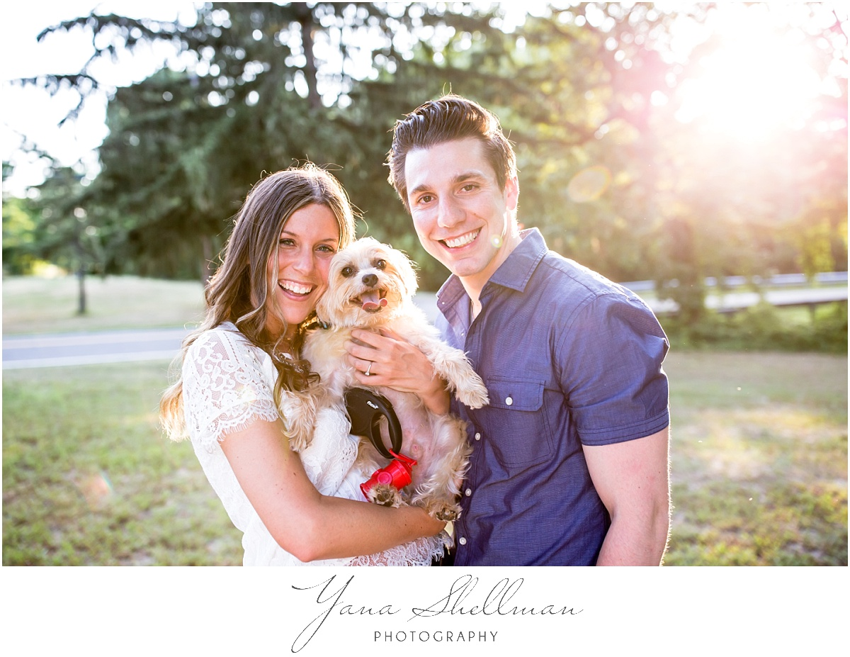 Lakeside Manor Wedding by Cherry Hill Wedding Photographer - Lindsay+Rob Philly Engagement Session with a dog