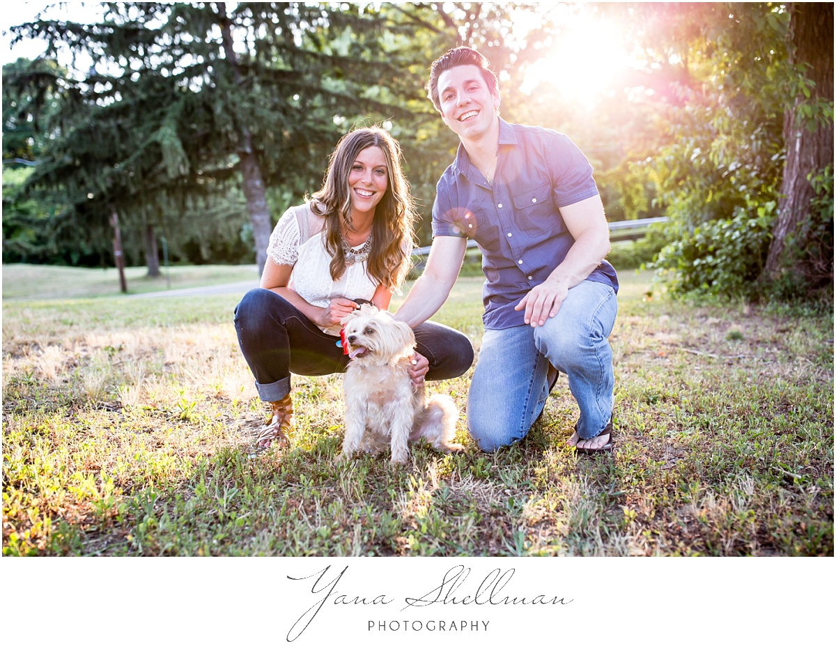 Old York Country Club at Chesterfield Wedding by Philly Wedding Photographer - Lindsay+Rob Haddonfield Engagement Session with a dog