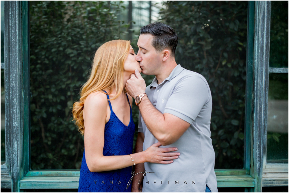 Longwood Gardens Engagement Photo Session by NJ Wedding Photographers - Christina+Garret Engagement Session