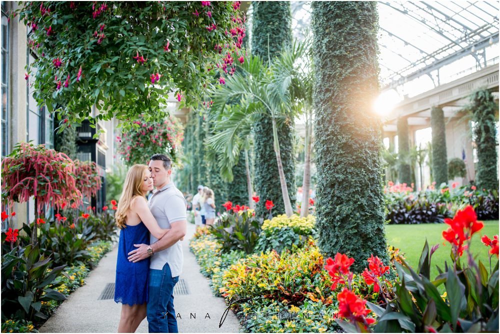 Longwood Gardens Engagement Photo Session by the best South Jersey Wedding Photographer - Christina+Garret Engagement Session