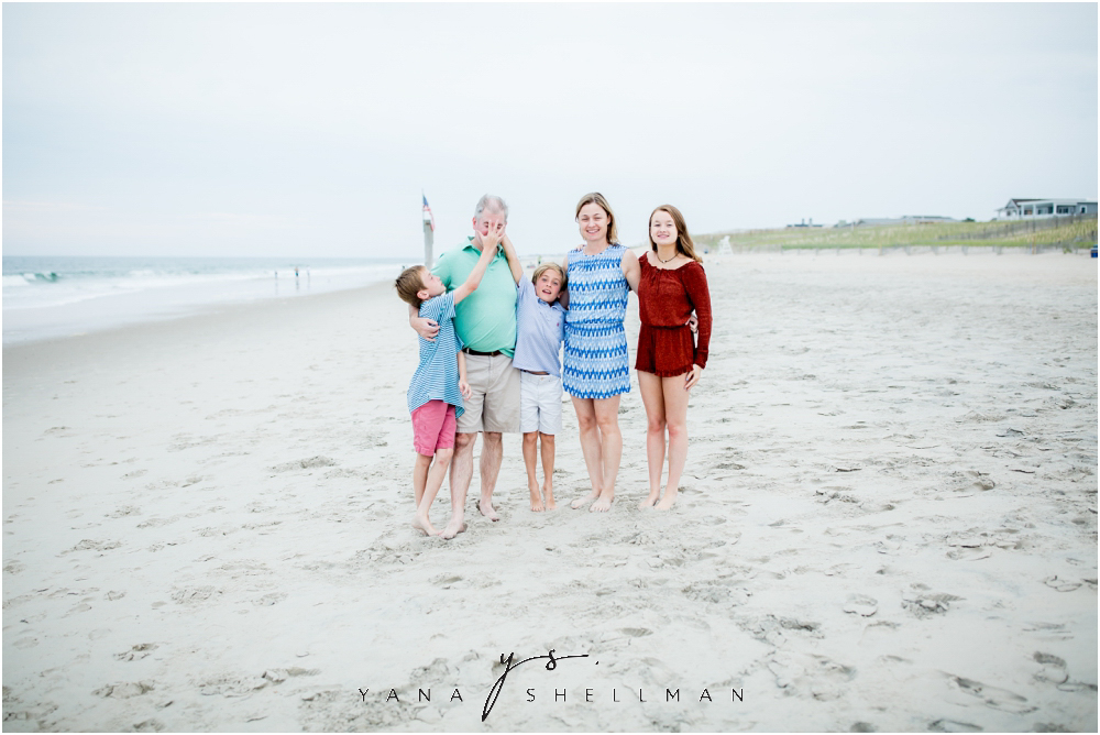 Beach Haven Family Photo Session captured by LBI Family Photographers - Tom+Debra Family Photos