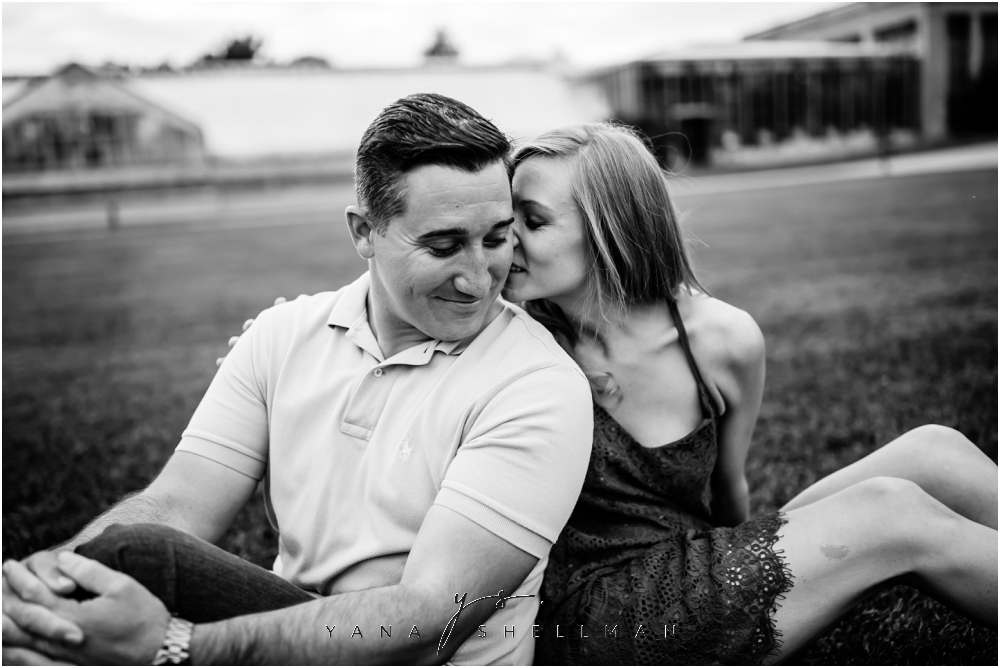 Longwood Gardens Engagement Photo Session by Lumberton Wedding Photographers - Christina+Garret Engagement Session