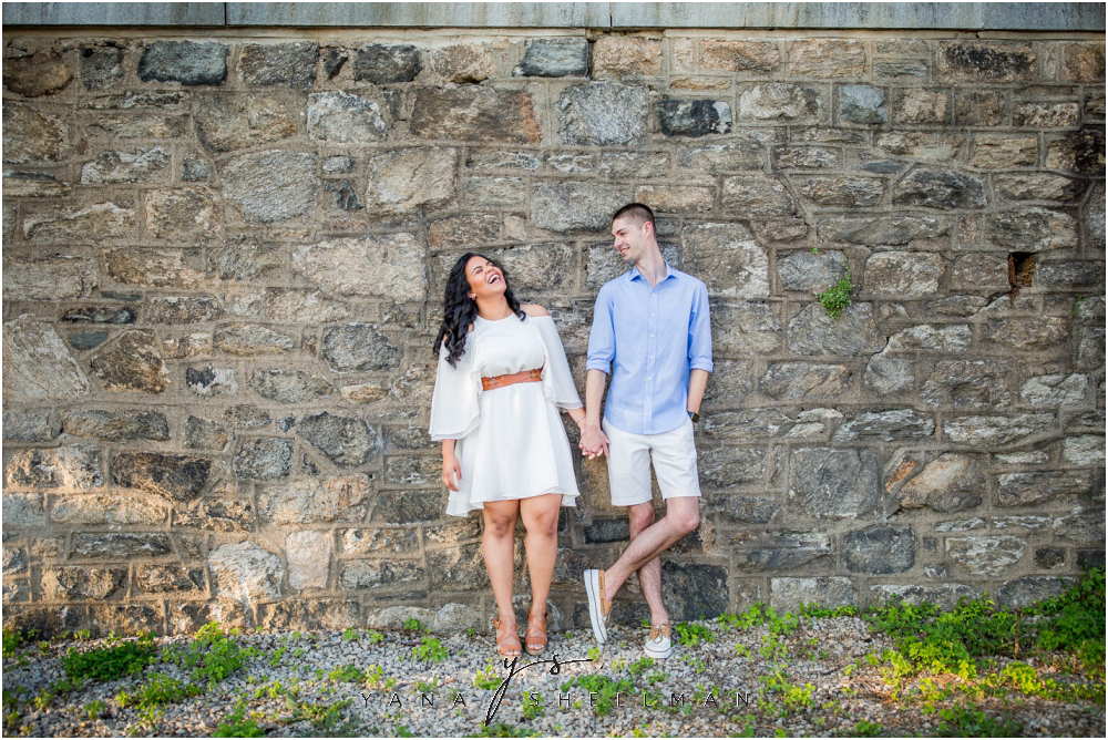Philadelphia Waterworks Engagement Photo Session by the best Lumberton Wedding Photographer - Cara+George Engagement Photos