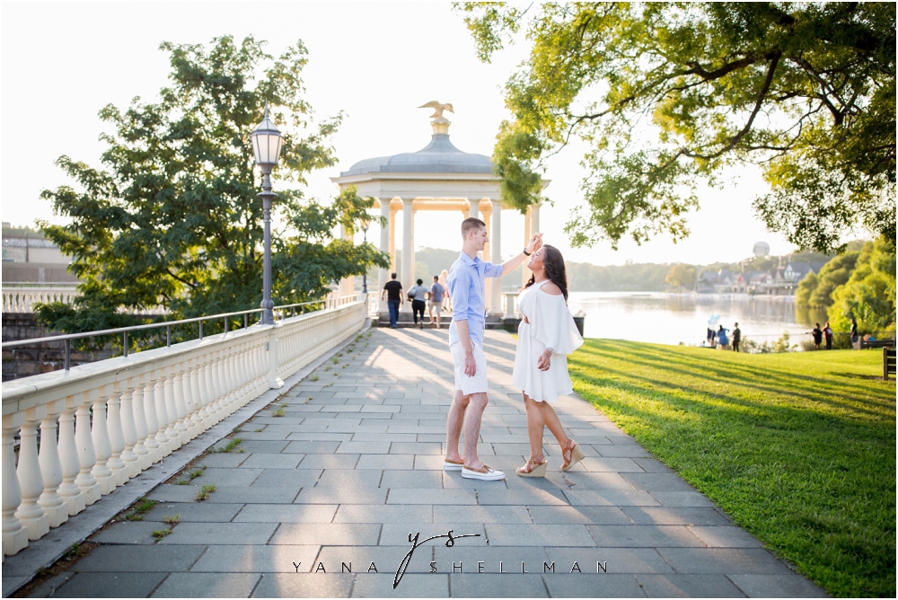 Philadelphia Waterworks Engagement Photo Session by Cherry Hill Wedding Photographers - Cara+George Engagement Photos