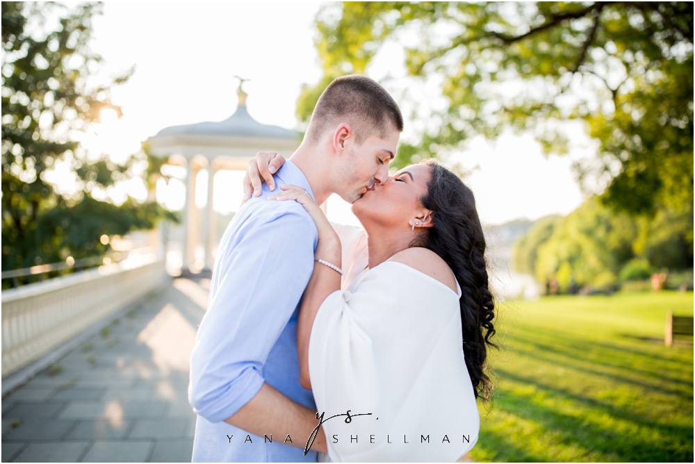 Philadelphia Waterworks Engagement Photo Session by the best Cherry Hill Wedding Photographer - Cara+George Engagement Photos