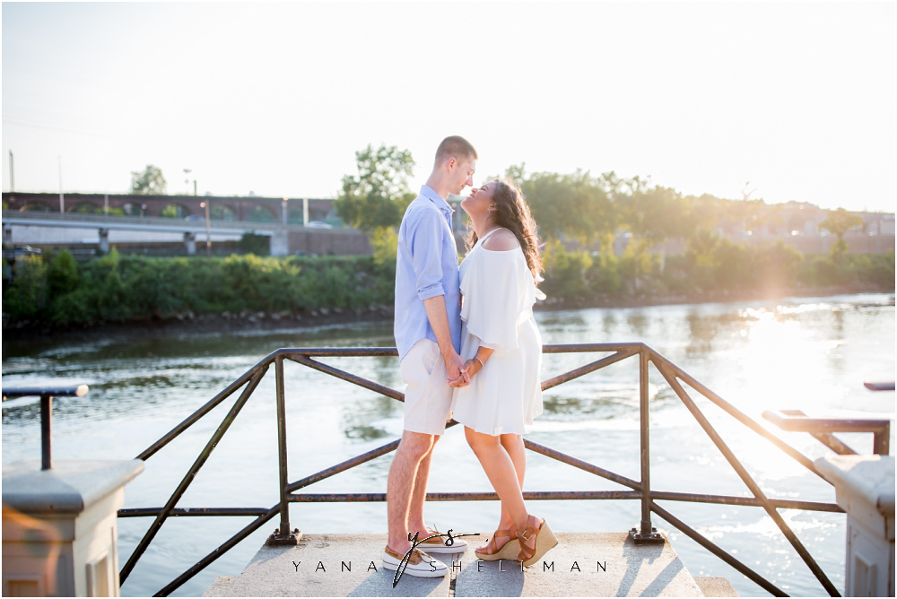 Philadelphia Waterworks Engagement Photo Session by the best Cherry Hill Wedding Photographers - Cara+George Engagement Photos