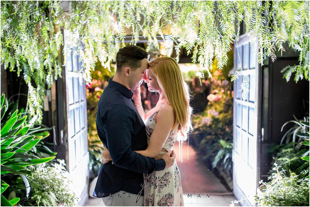 Longwood Gardens Engagement Photo Session by the best Vineland Wedding Photographer - Christina+Garret Engagement Session