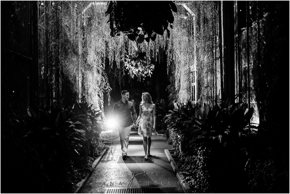 Longwood Gardens Engagement Photo Session by the best Princeton Wedding Photographer - Christina+Garret Engagement Session