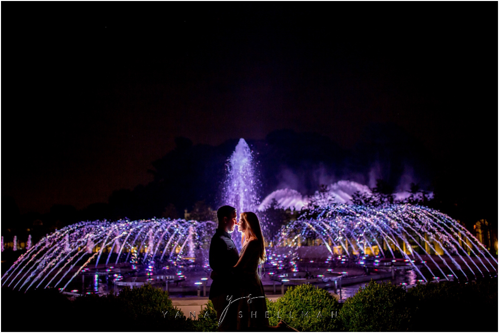 Longwood Gardens Engagement Photo Session by the best New Hope Wedding Photographers - Christina+Garret Engagement Session