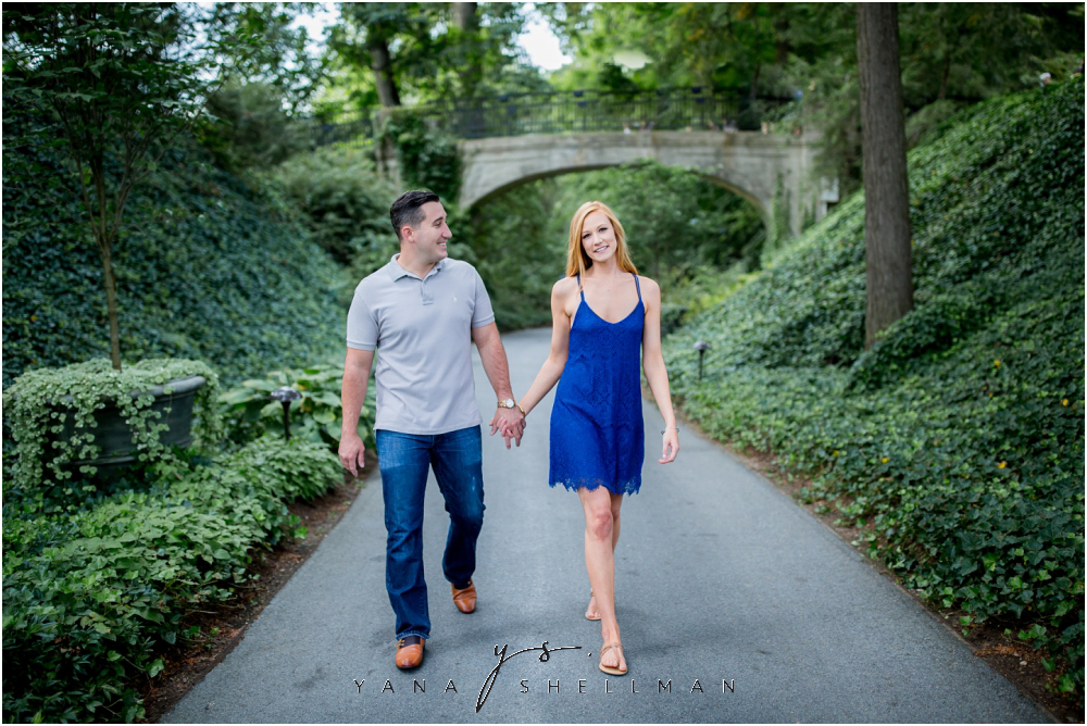 Longwood Gardens Engagement Photo Session by the best Philadelphia Wedding Photographer - Christina+Garret Engagement Session