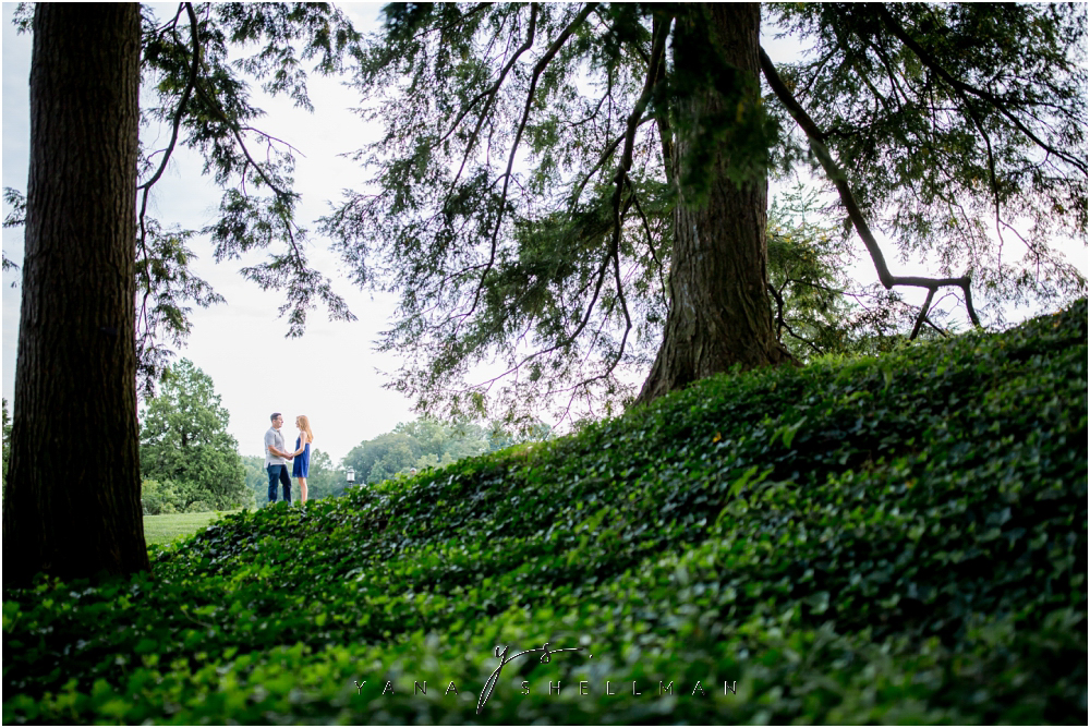 Longwood Gardens Engagement Photo Session by the best Philadelphia Wedding Photographers - Christina+Garret Engagement Session
