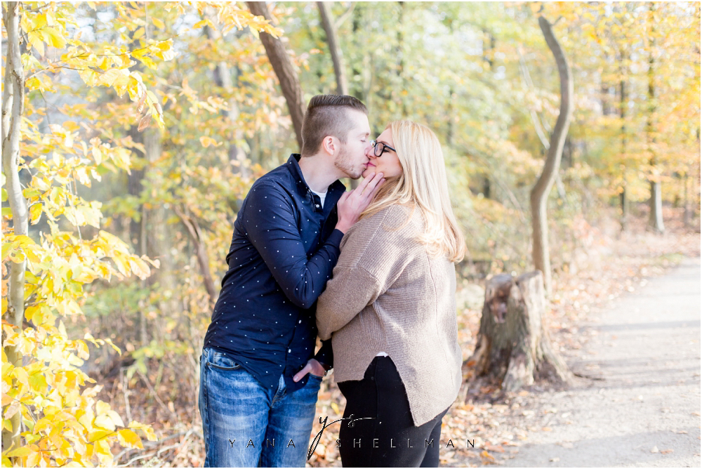 Historic Smithville Mansion Engagement by Center City Philly Wedding Photographer - Caitlin+Josh Photos