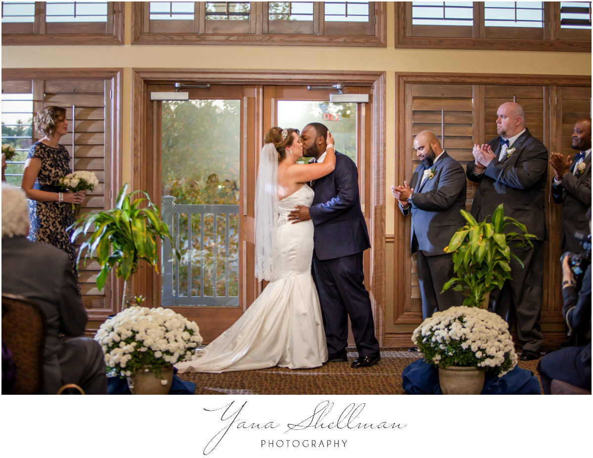 The Time Has Come And All Family Guests Gathered Together To Witness Wedding Ceremony Camden County Boathouse Photos
